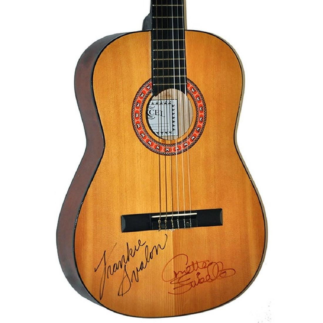 Frankie Avalon & Annette Funicello Signed Guitar