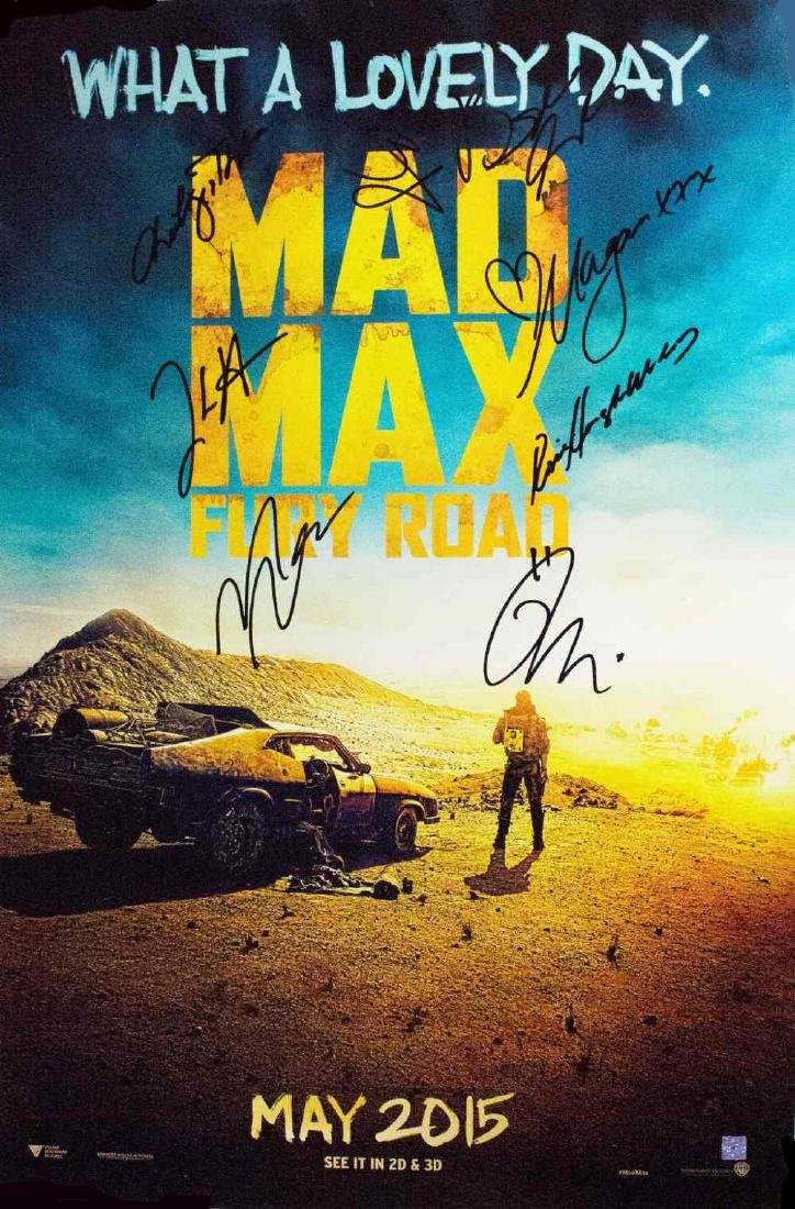 Mad Max Fury Road – Signed Movie Poster