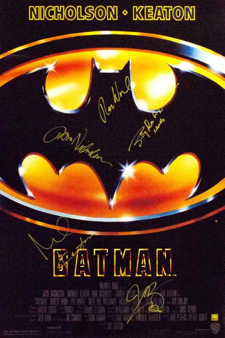 Batman 1989 – Signed Movie Poster