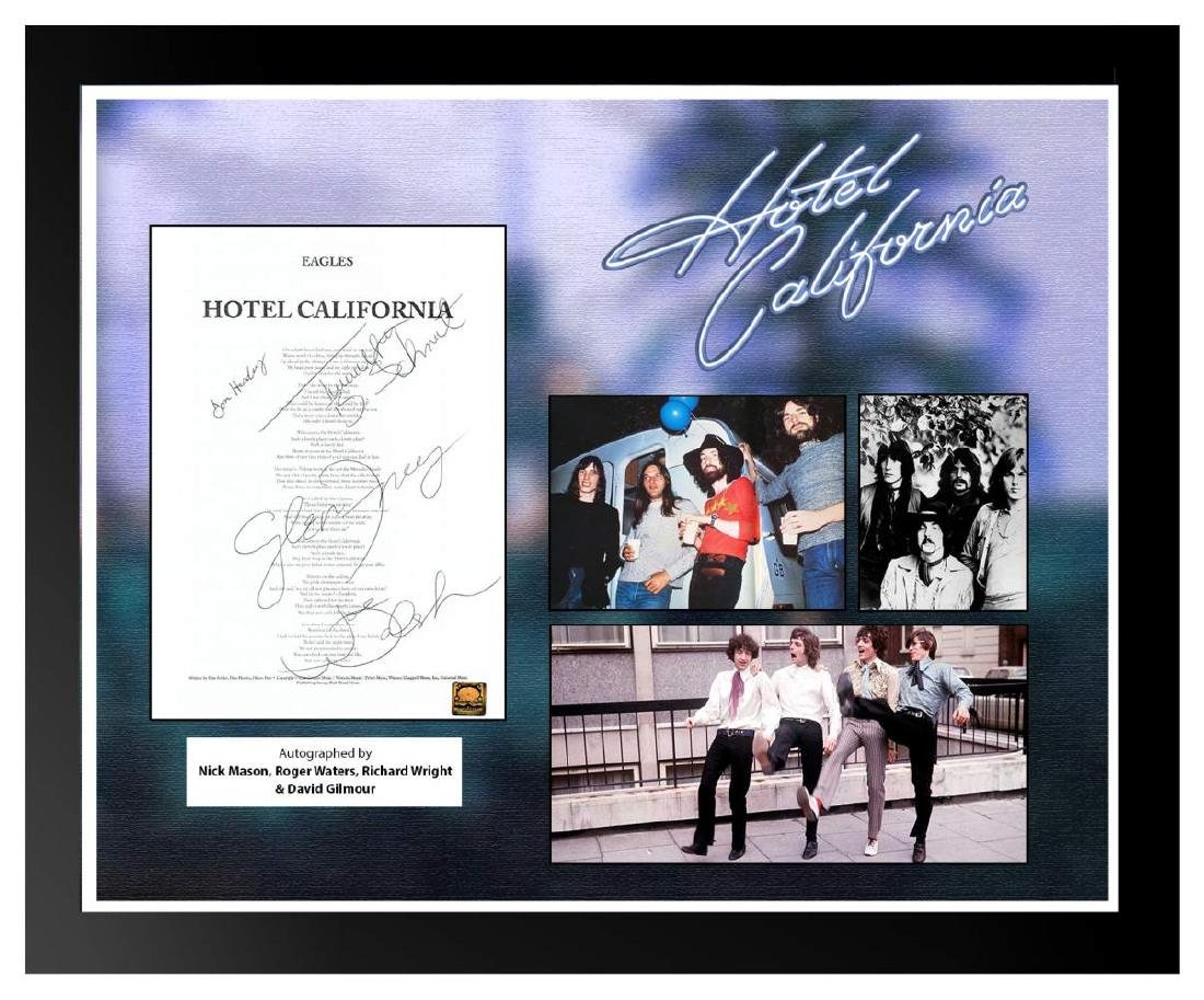 Eagles Hotel California Signed Lyrics