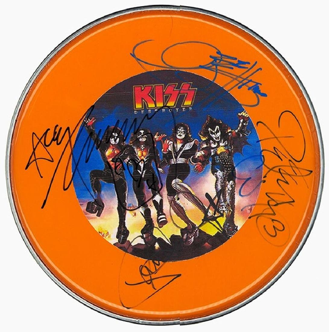 Kiss Destroyer Signed Drum Head