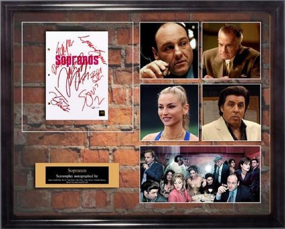 Sopranos - Signed Movie Script in Photo Collage Frame