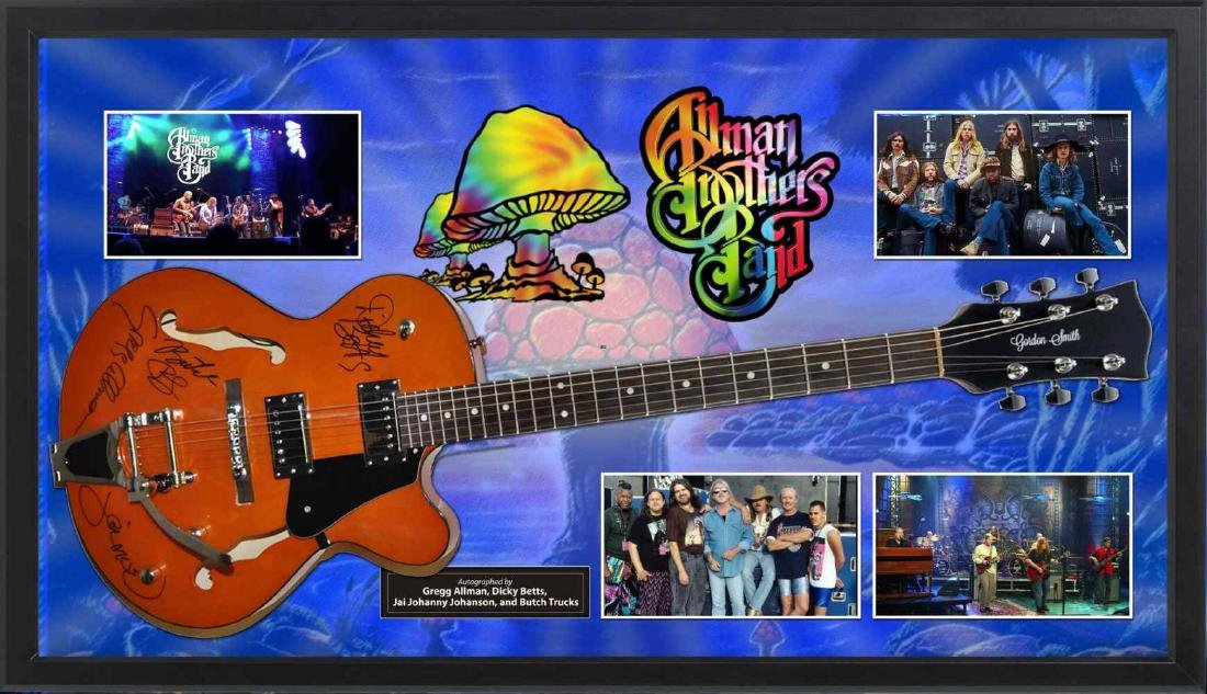 Allman Brothers Signed and Framed Guitar