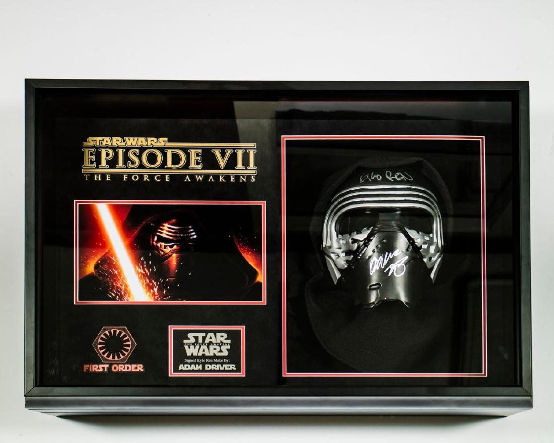 Kylo Ren Signed Mask Collage