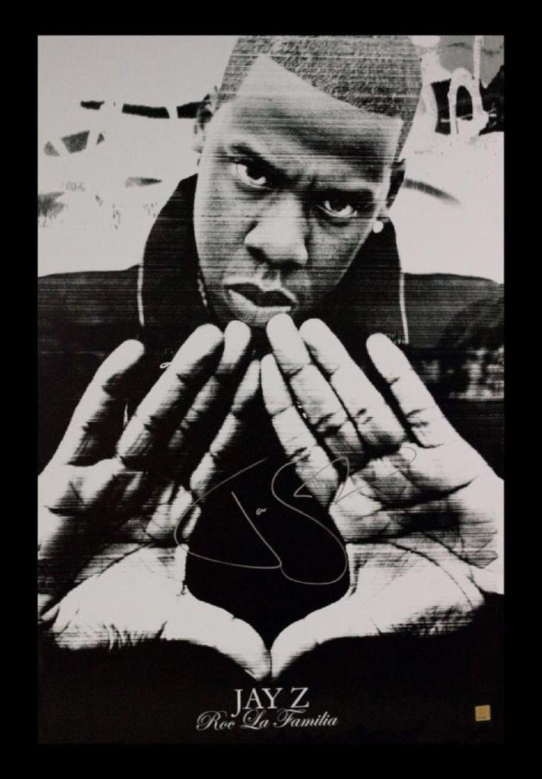 JayZ Autographed Poster