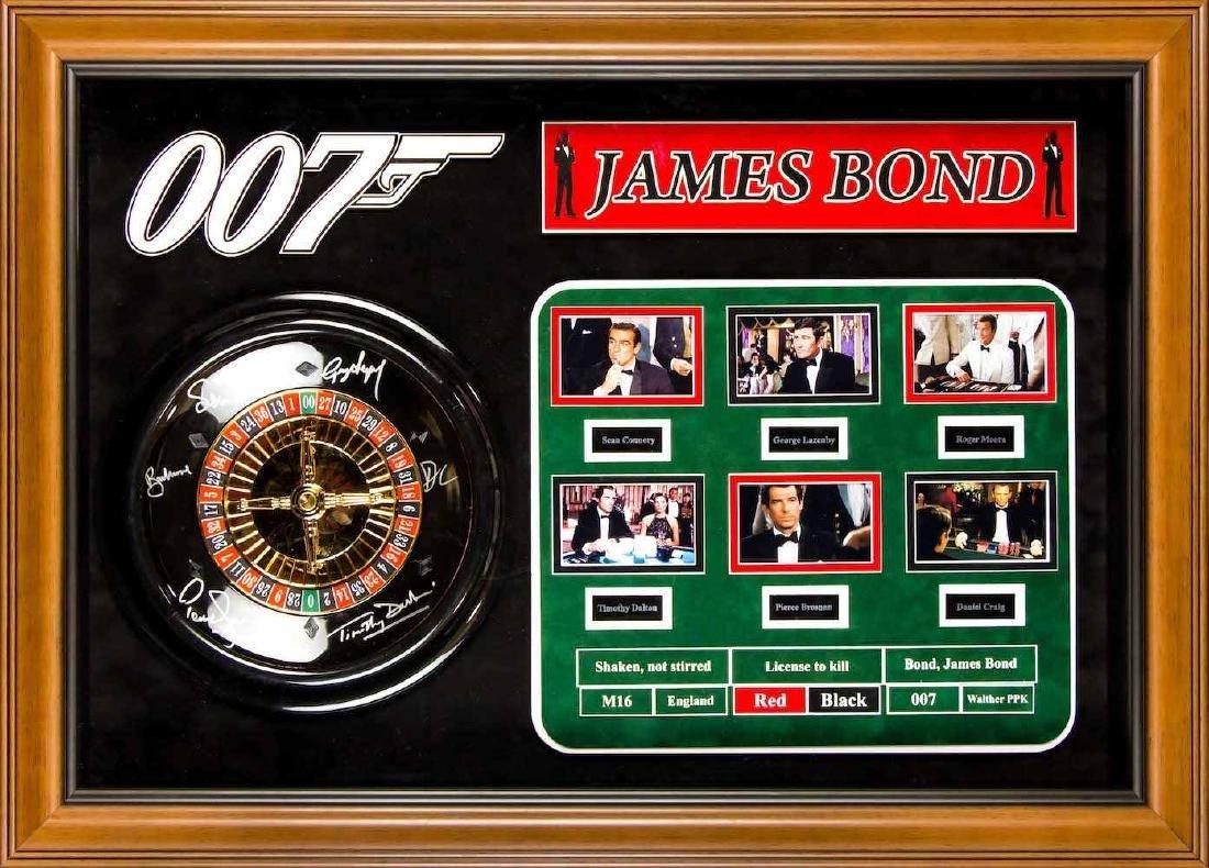 James Bond Autographed Mini Roulette Wheel