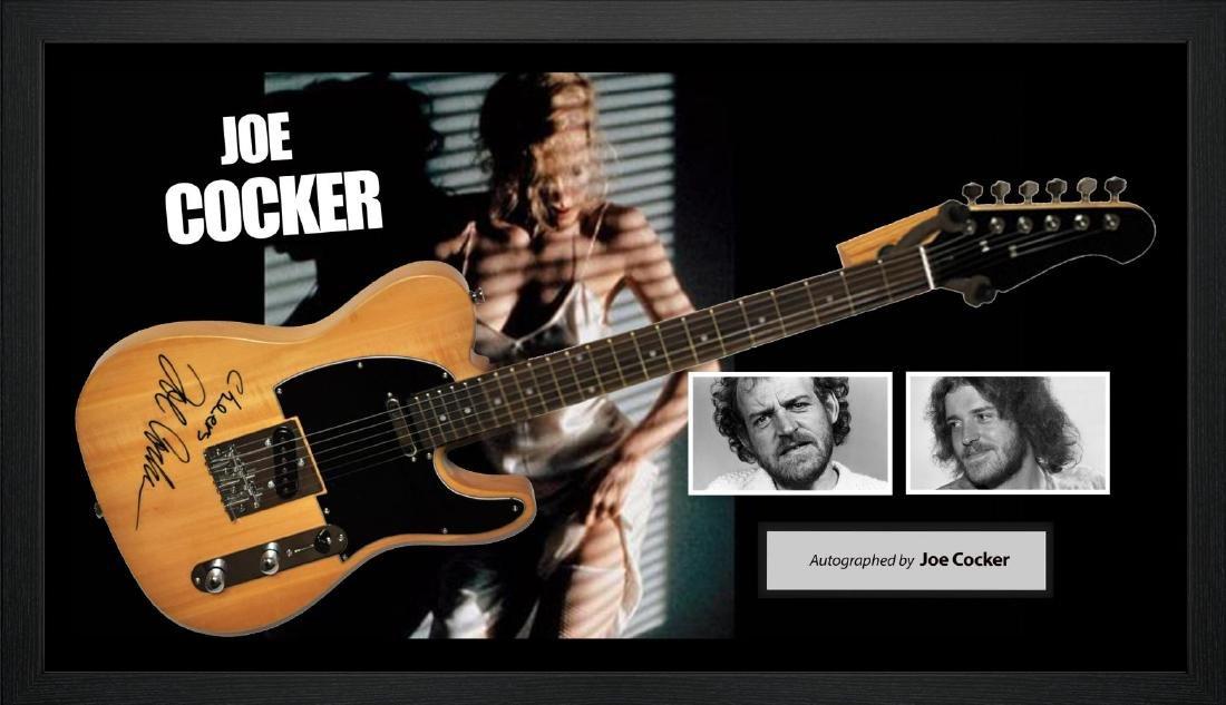 Joe Cocker Signed and Framed Guitar