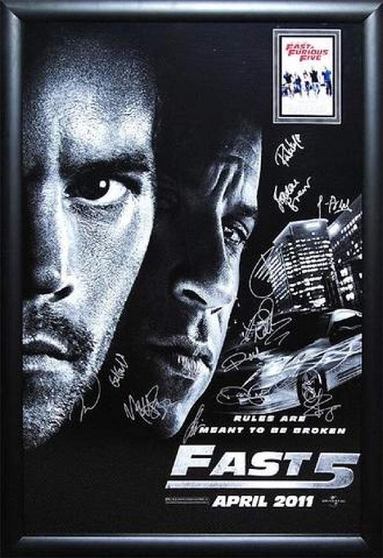 Fast and Furious 5 -  Signed Movie Poster