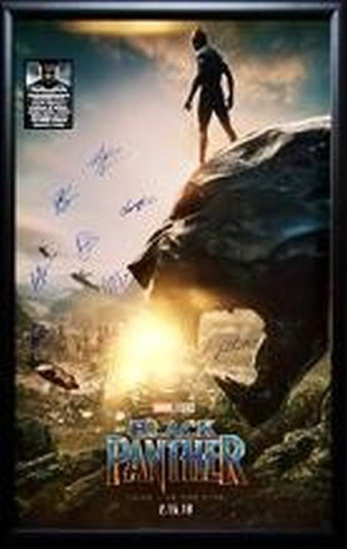 Cast Signed Black Panther Poster