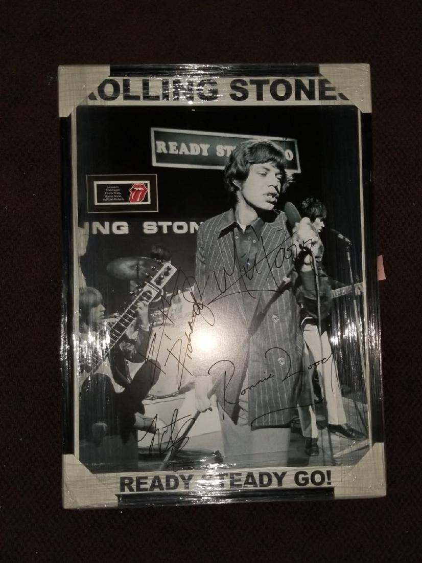 Rolling Stones Ready Steady Go Signed Poster