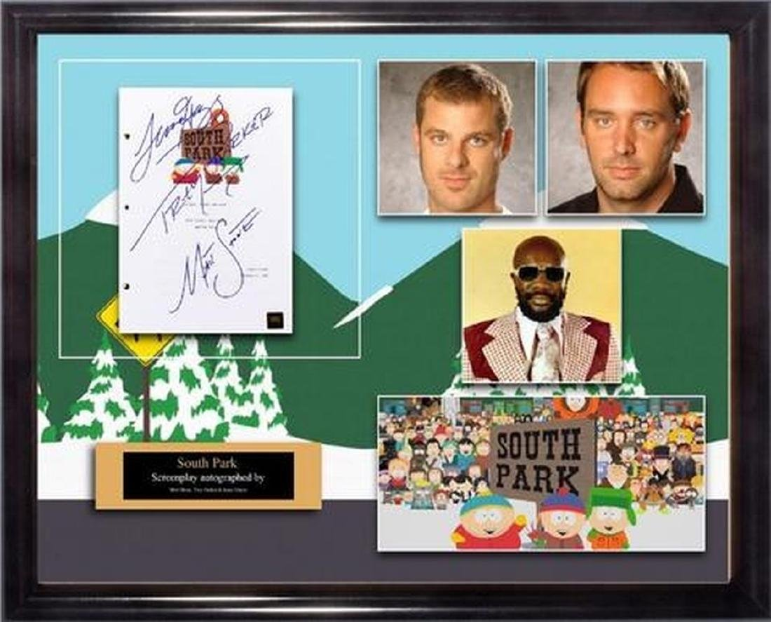 South Park - Signed Movie Script in Photo Collage Frame