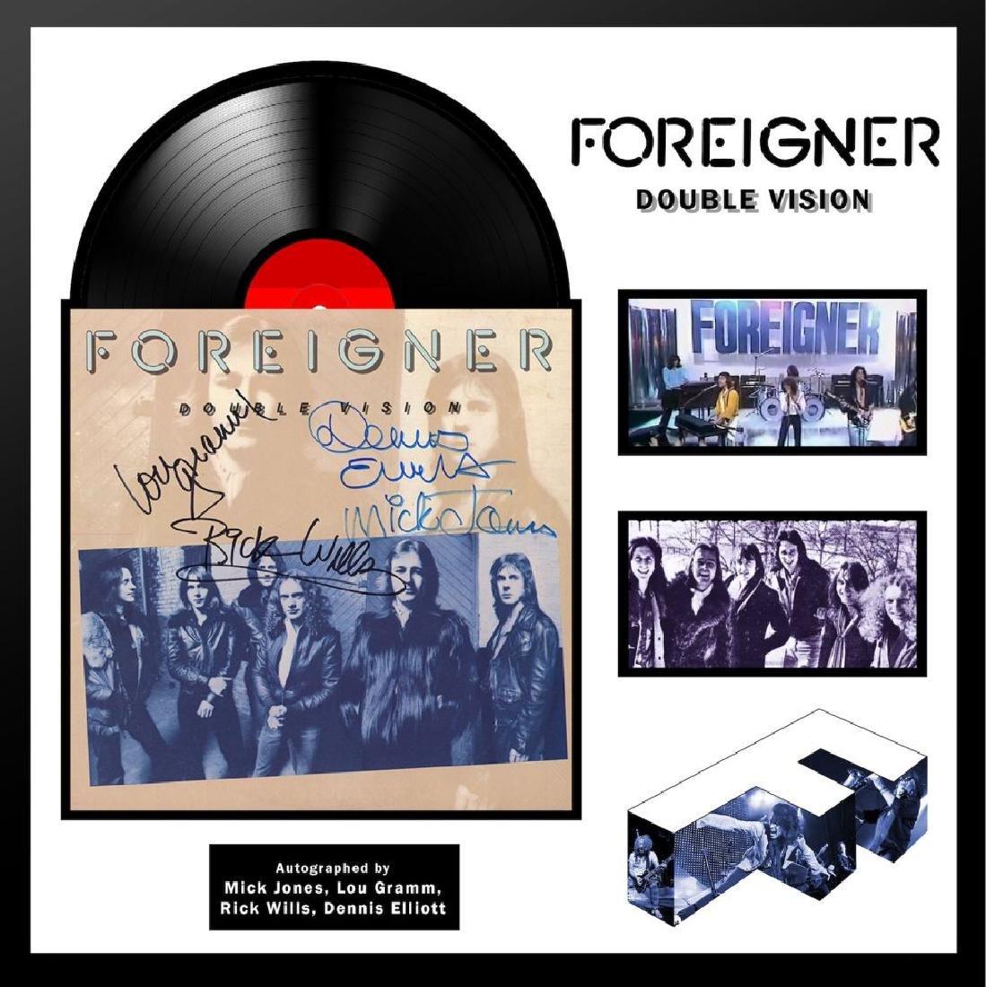 Foreigner Double Vision Framed Album
