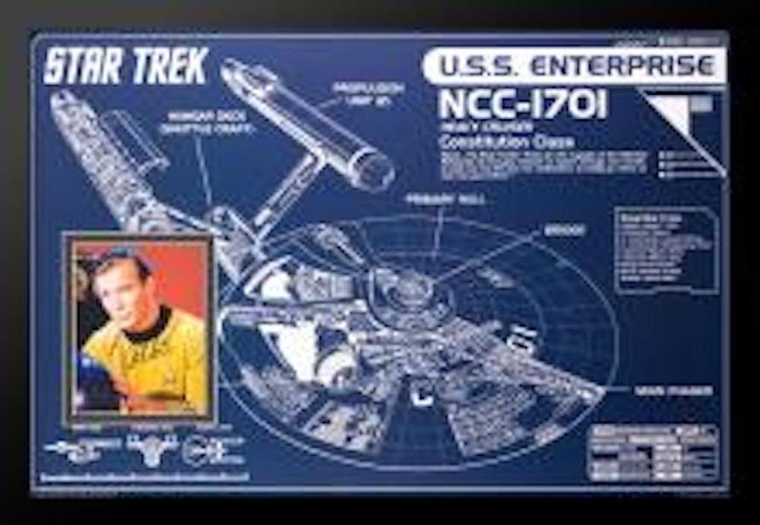 USS Enterprise Blue Picture in Picture
