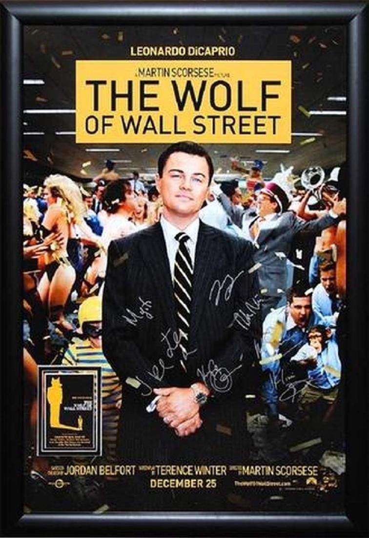 Wolf of Wall Street - Signed Movie Poster
