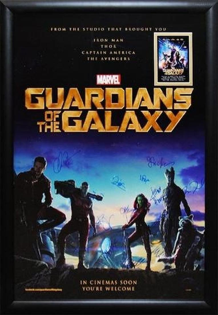 Guardians of the Galaxy - Signed Movie Poster