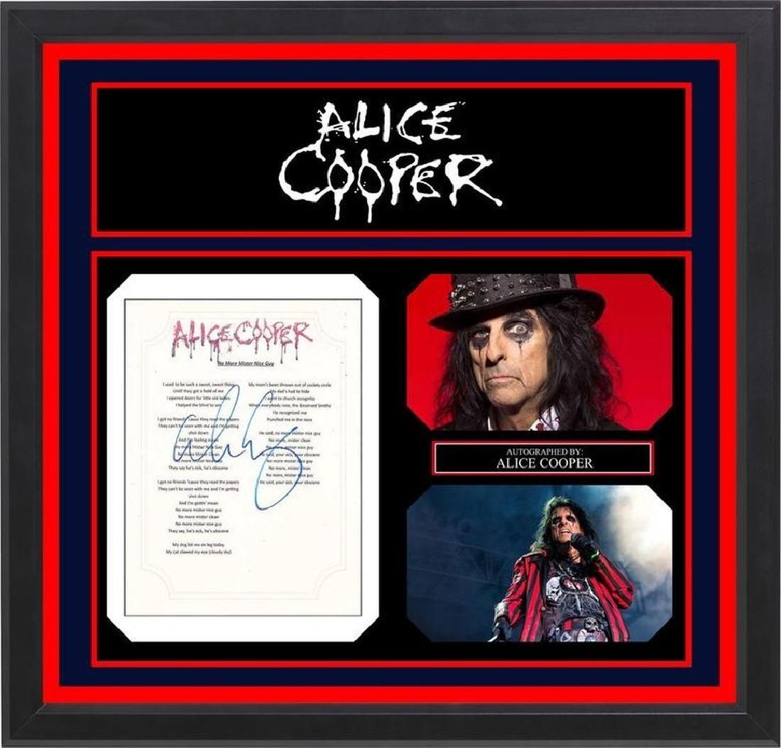 Alice Cooper Signed Lyrics No More Mr. Nice Guy