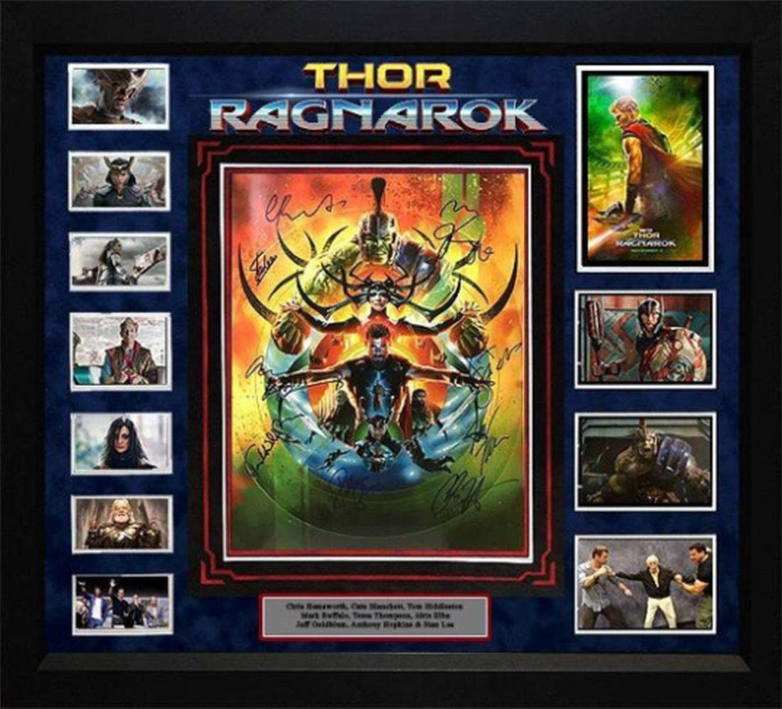Thor Ragnarok - Cast Signed Movie Photo - Framed Artist