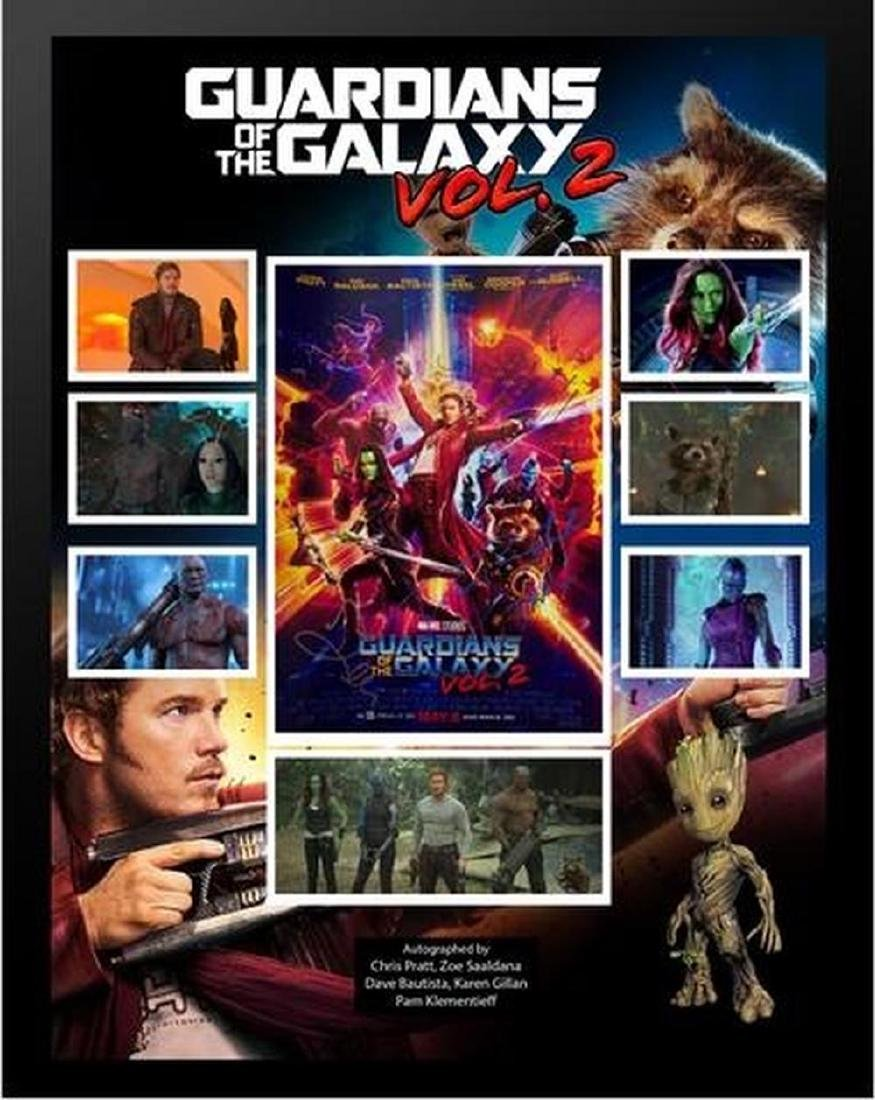 Guardians of the Galaxy Vol. 2 - Cast Signed Collage