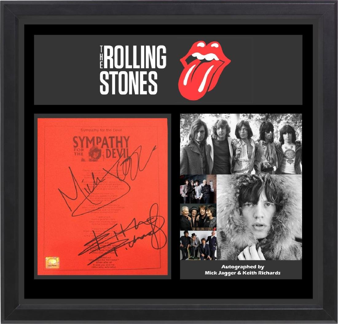 Rolling Stones Sympathy For The Devil Signed Lyrics