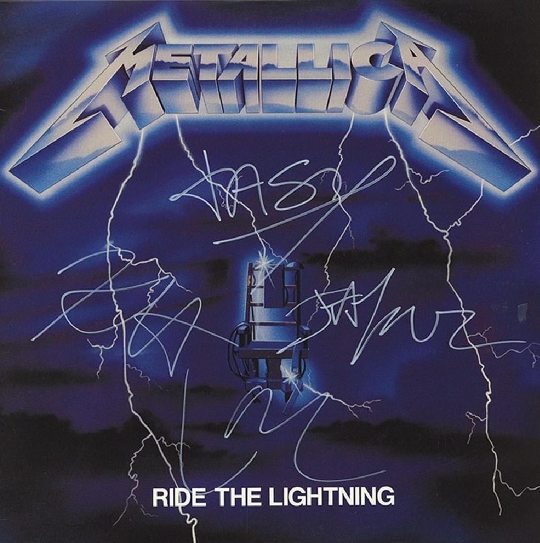 Metalllica Ride The Lightning Unframed Album