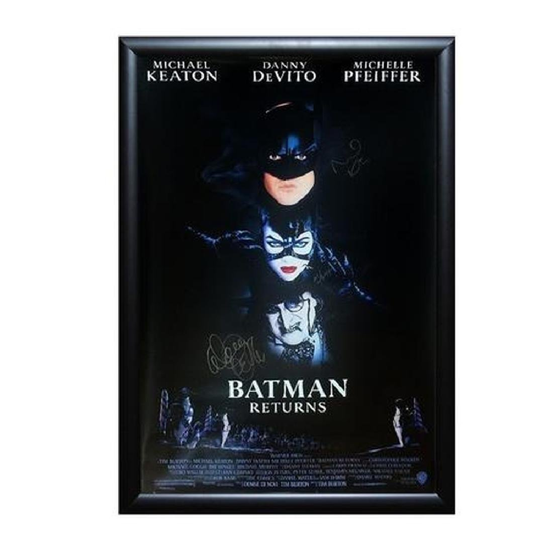 Batman Returns - Signed Movie Poster