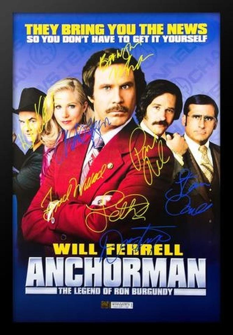 Anchorman - Signed Movie Poster