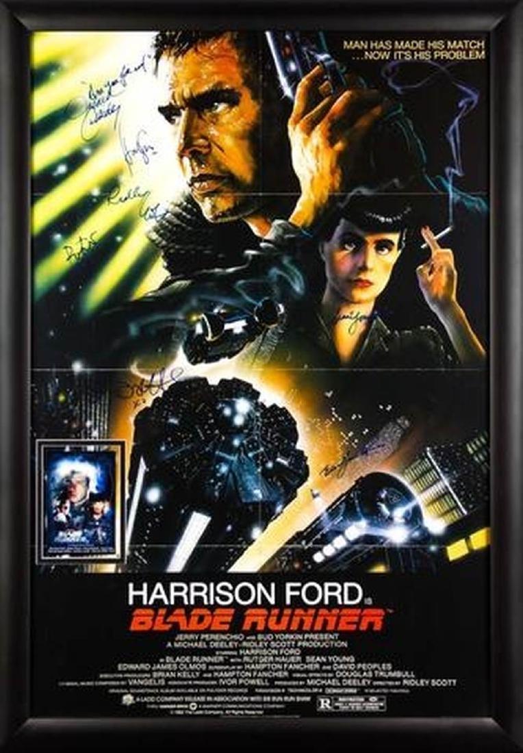 Blade Runner - Signed Movie Poster