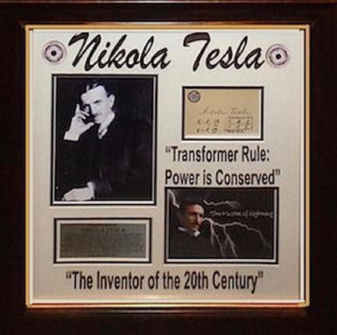 Nikola Tesla Autographed Signature Card Collage