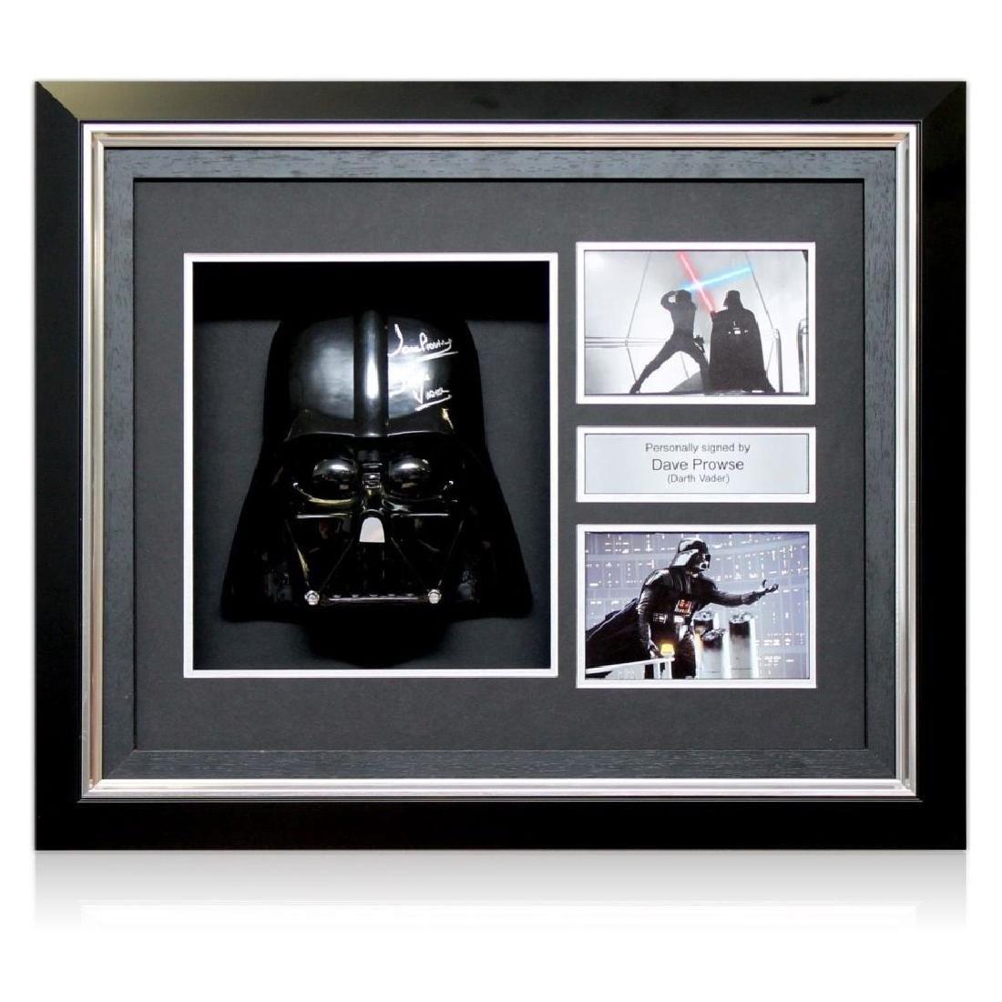 Star Wars Framed & Signed Darth Vader Mask