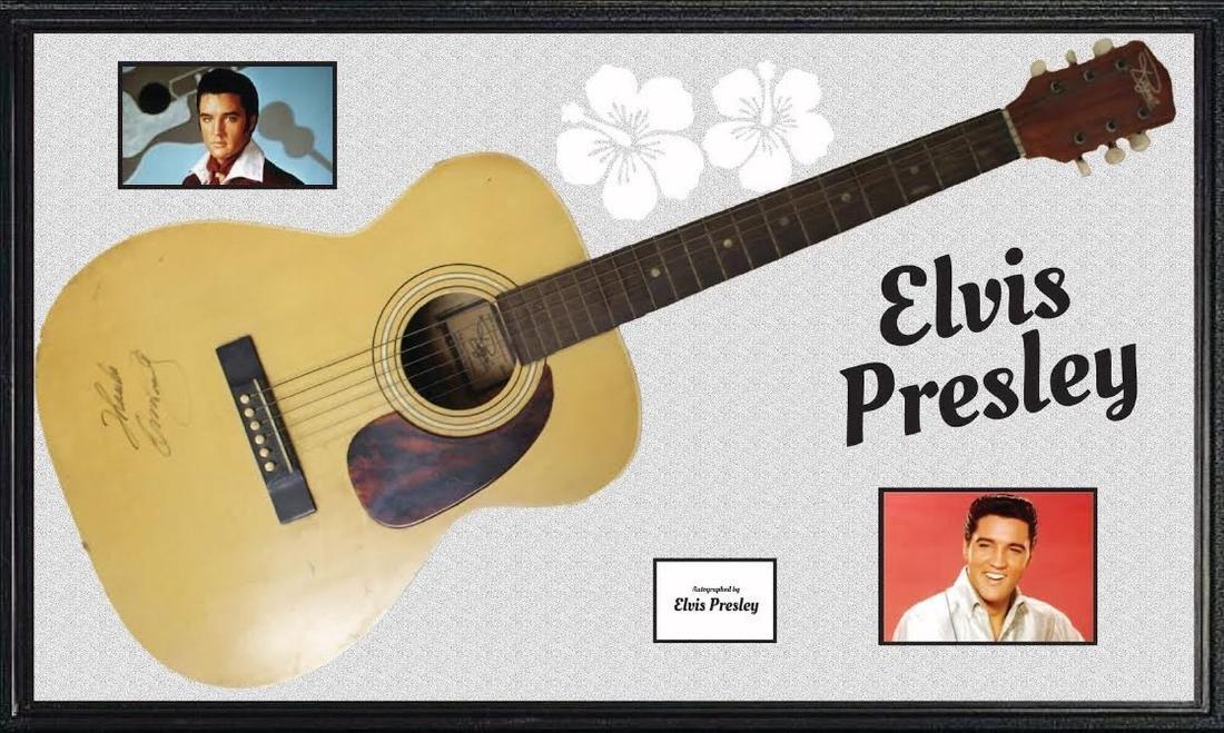 Elvis Presley Signed Acoustic Guitar