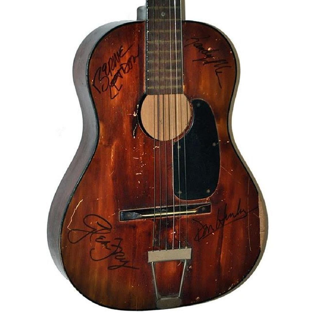 The Eagles Original Lineup Signed Guitar