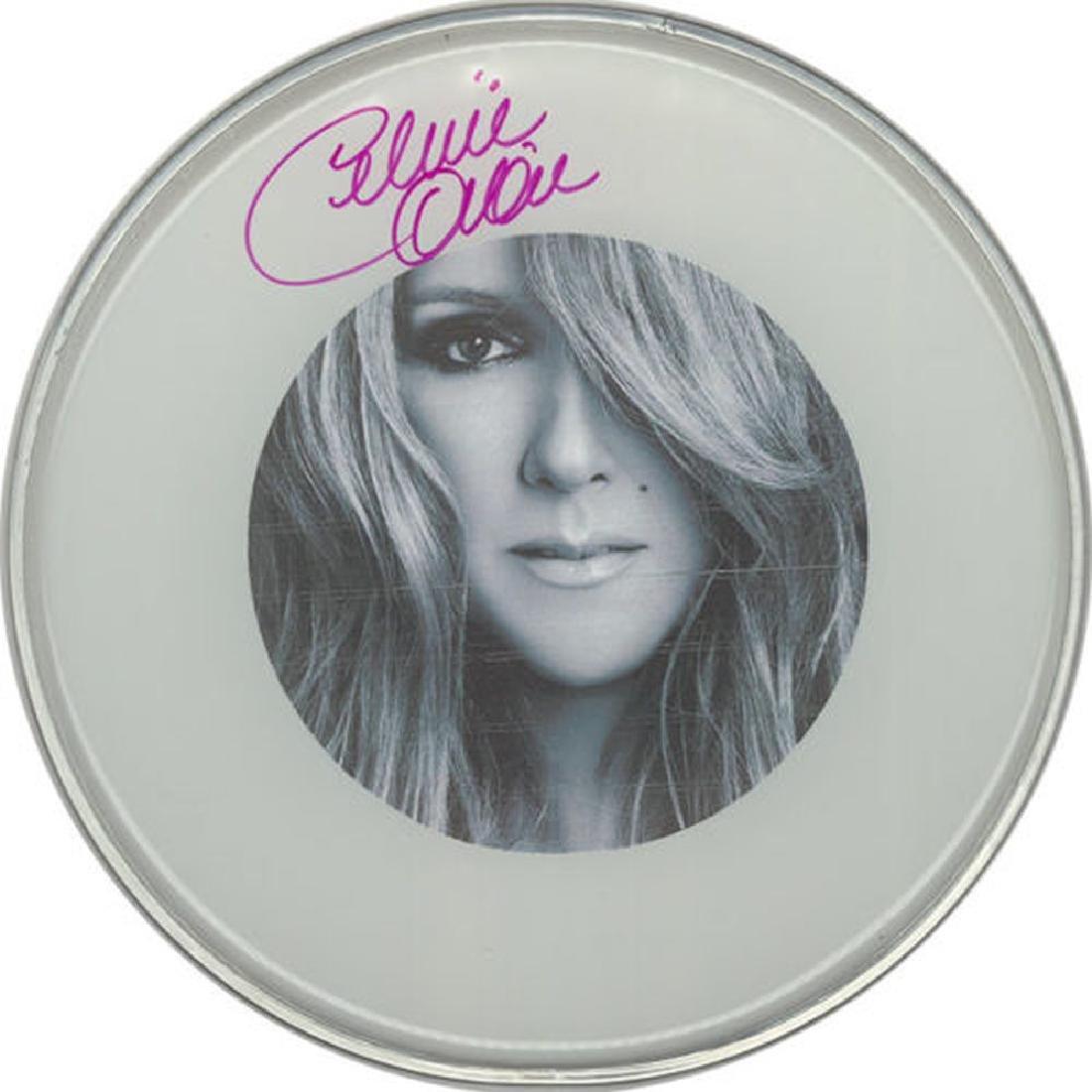 Celine Dion Signed Drumhead