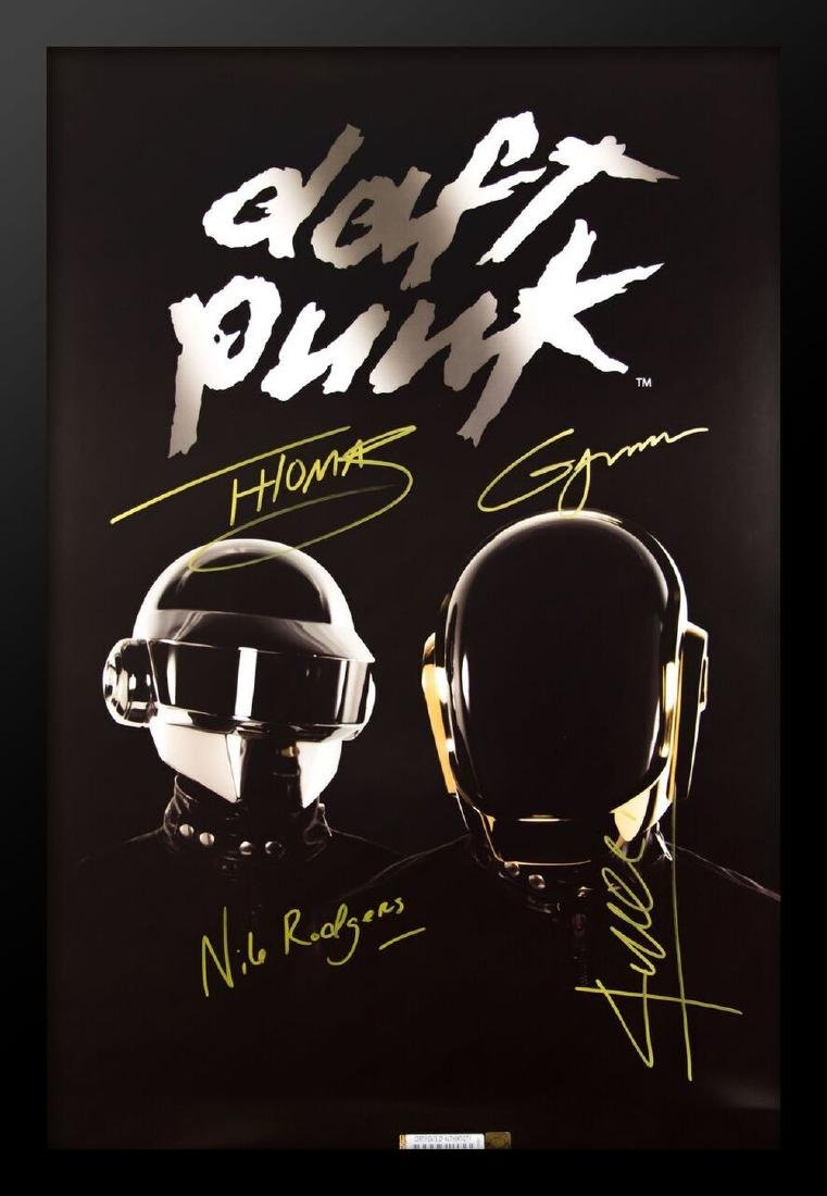 Daft Punk Signed Music Poster