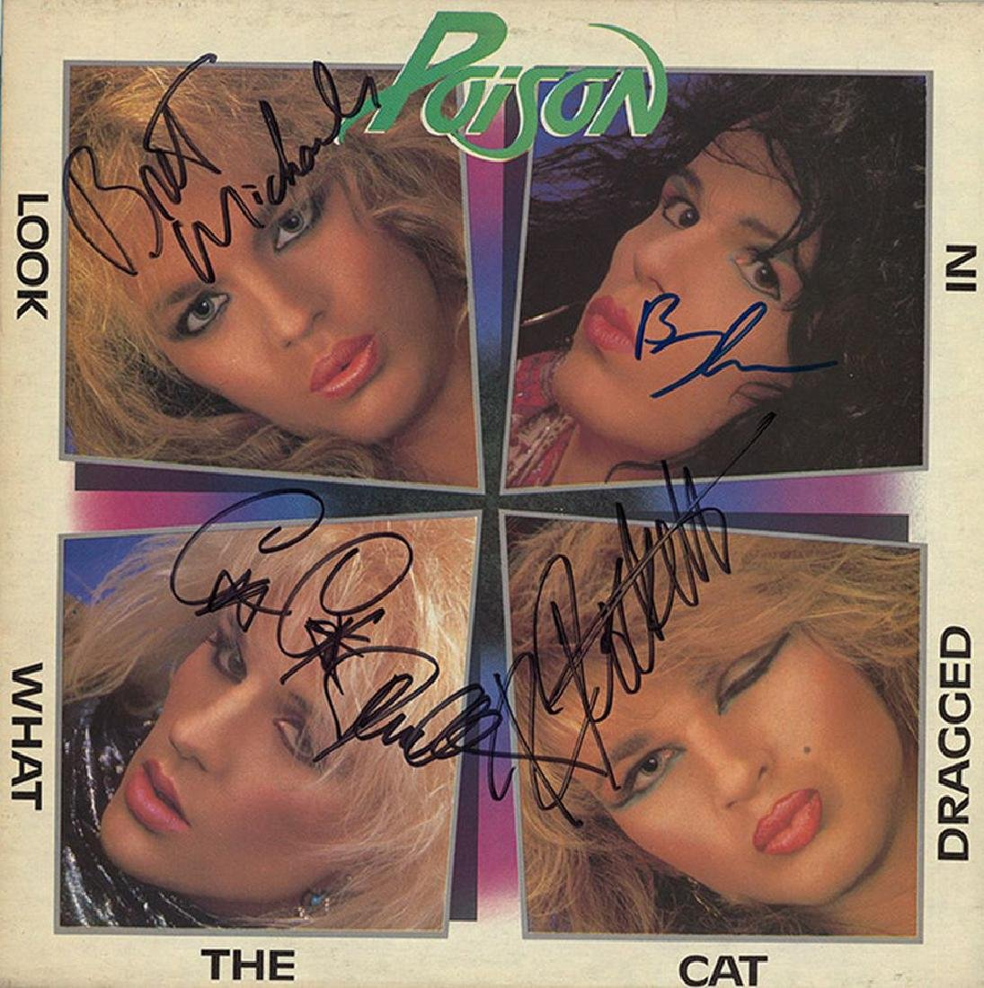 Poison Signed Look What the Cat Dragged In Album