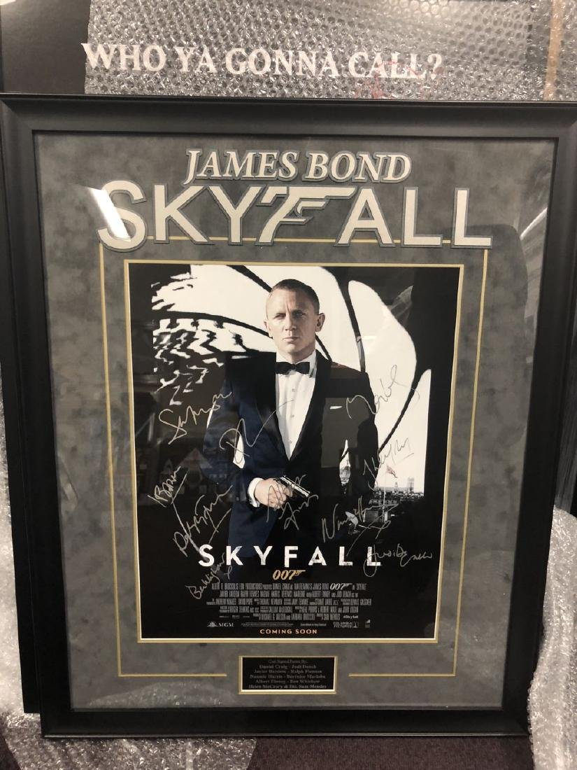 "James Bond - Daniel Craig Signed ""Skyfall"" Movie Poster"