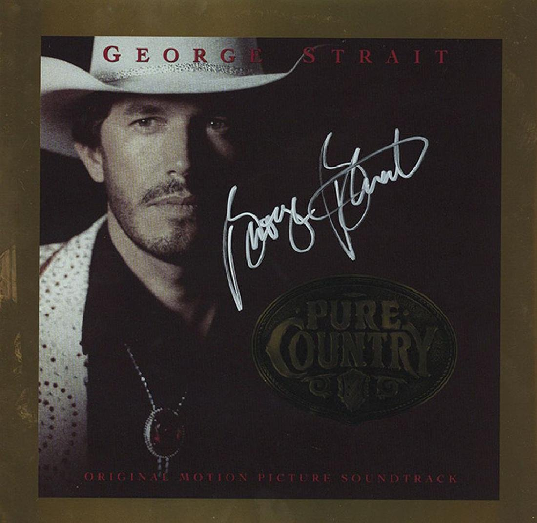 George Strait Signed Pure Country Album
