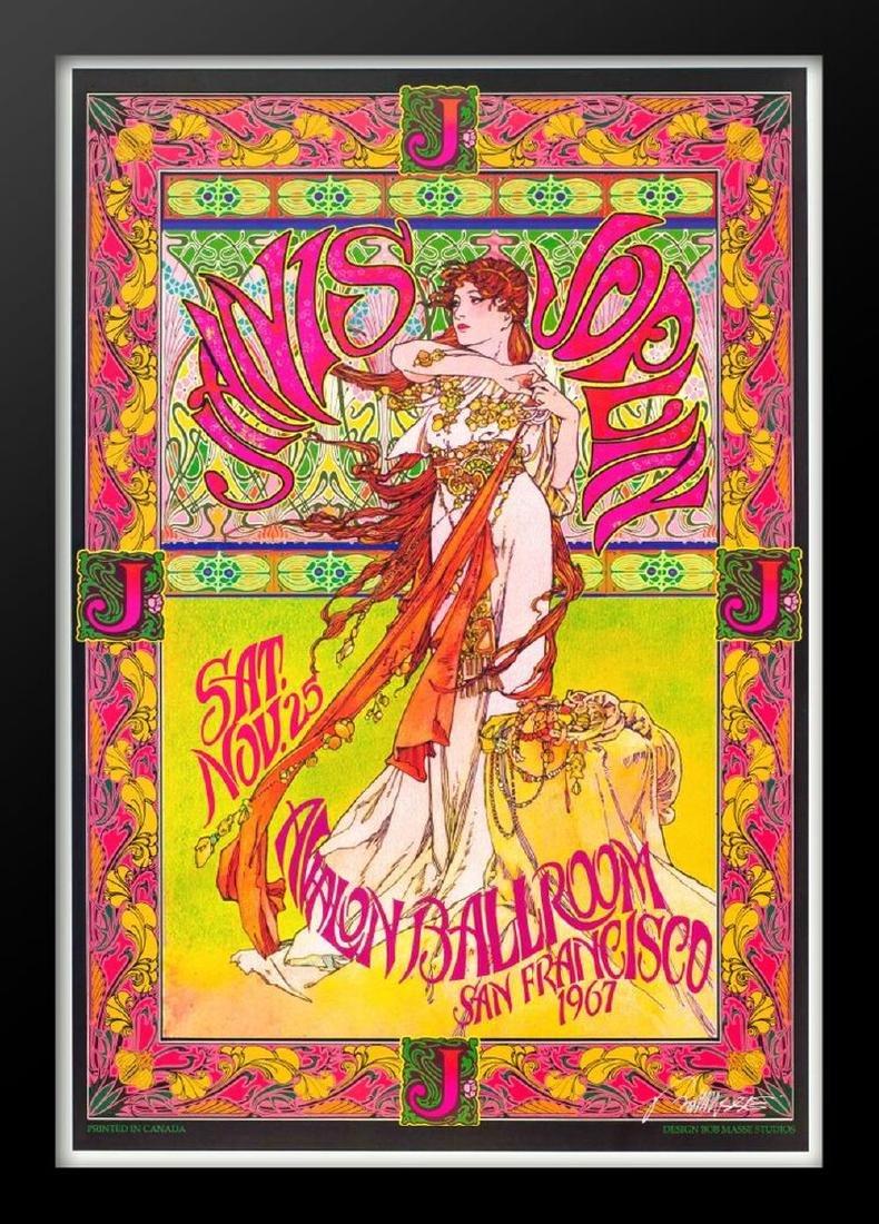 Concert poster designed for Janis Joplin at the Avalon