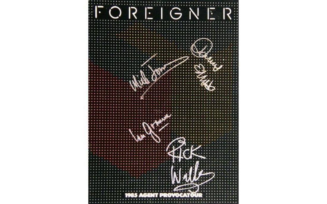 Foreigner Autographed Tour Book