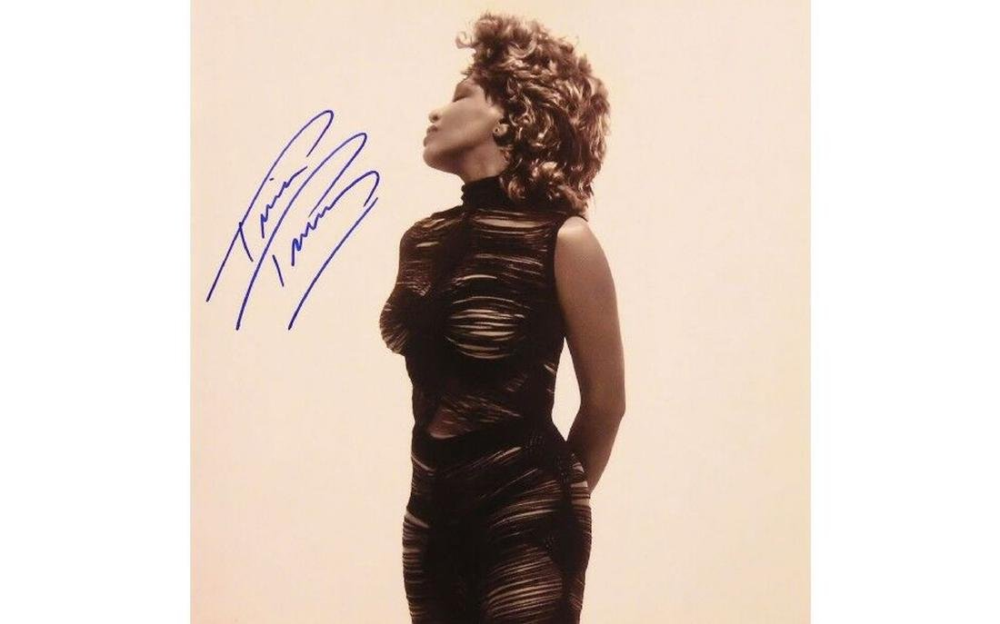 Tina Turner Autographed Tour Book