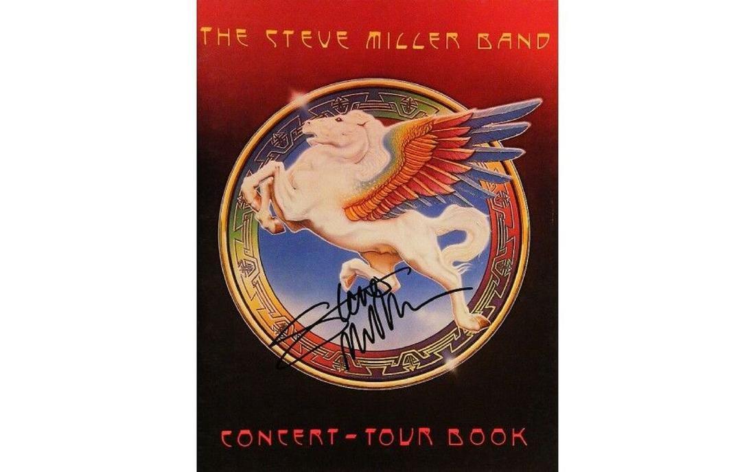 Steve Miller Autographed Tour Book