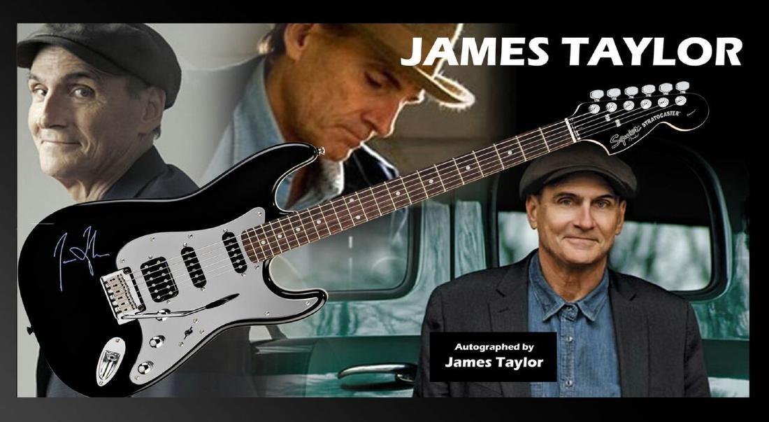 James Taylor Autographed Guitar