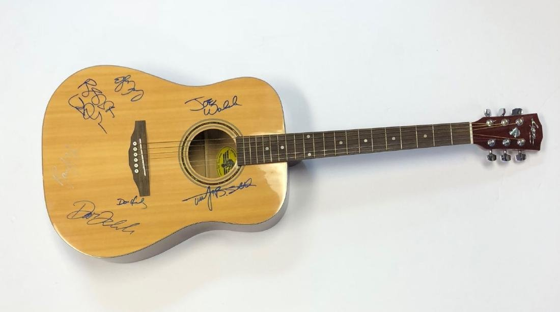 The Eagles Complete Lineup Signed Acoustic Guitar
