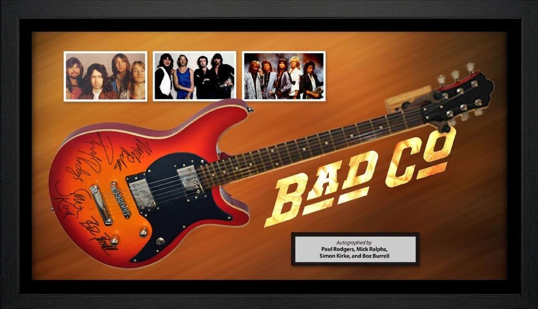 Bad Company Autographed Guitar