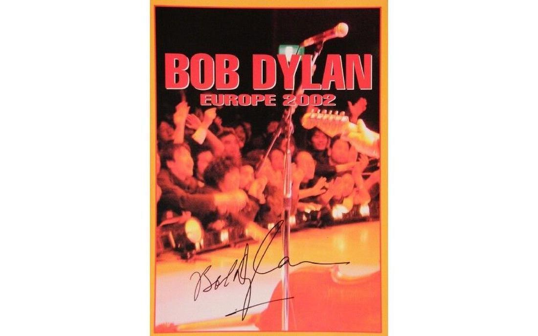 Bob Dylan Autographed Tour Book