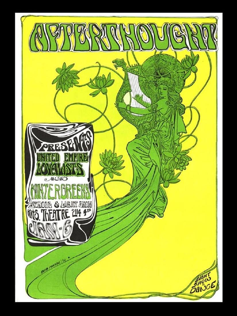 Concert poster designed for Afterthought at the Kits