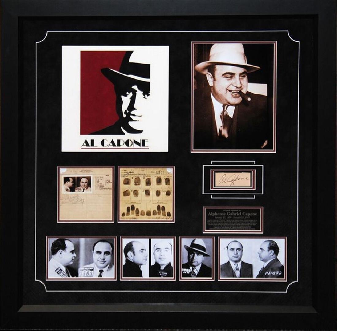 Al Capone Autographed Collage