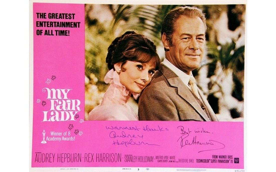Audrey Hepburn and Rex Harrison Signed My Fair Lady