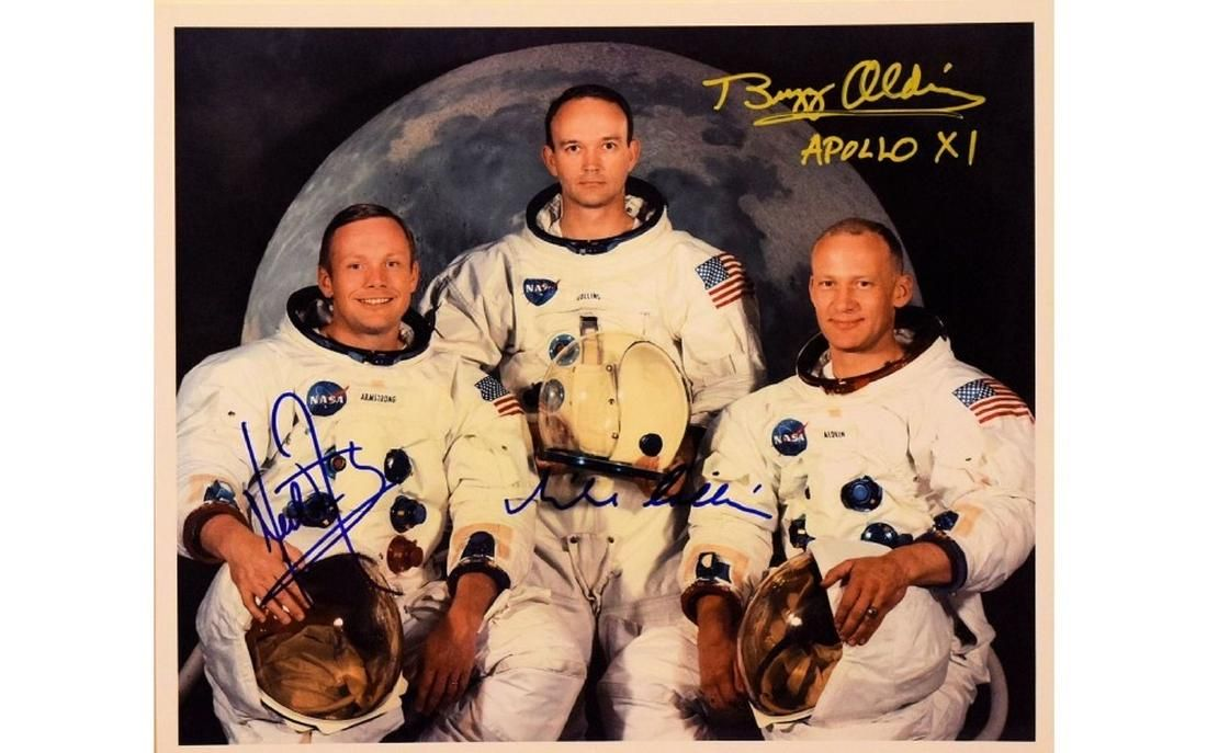 Neil Armstrong, Buzz Aldrin and Michael Collins Signed