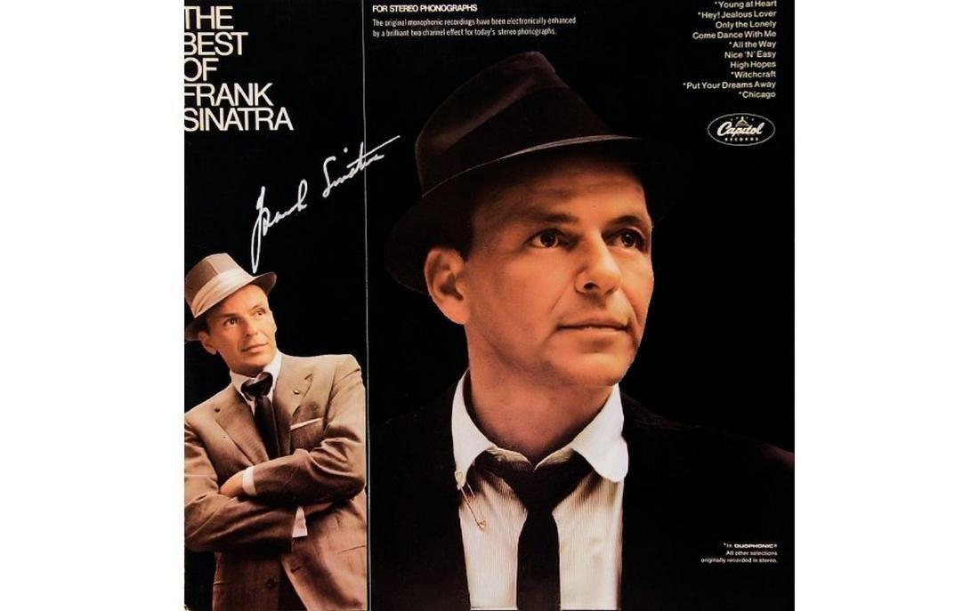 Frank Sinatra Signed The Best of Frank Sinatra Album