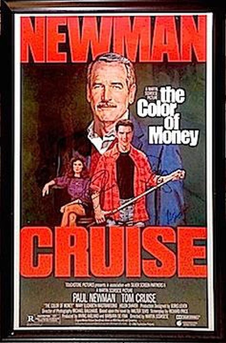 The Color of Money Signed Movie Poster